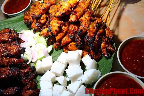 Món ăn đặc trưng của Malaysia. Quắn ăn Xiên nướng Satay ngon nhất ở Malaysia