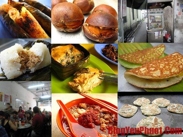 Kinh nghiệm ăn uống khi du lịch Malaysia. Món ăn đường phố của Malaysia