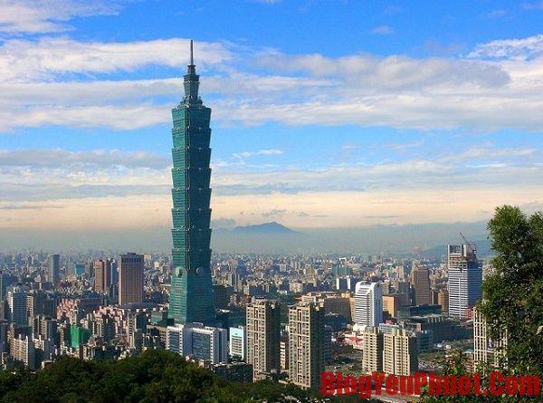 Tháp Taipei 101 - điểm đến thú vi khi du lịch Đài Loan