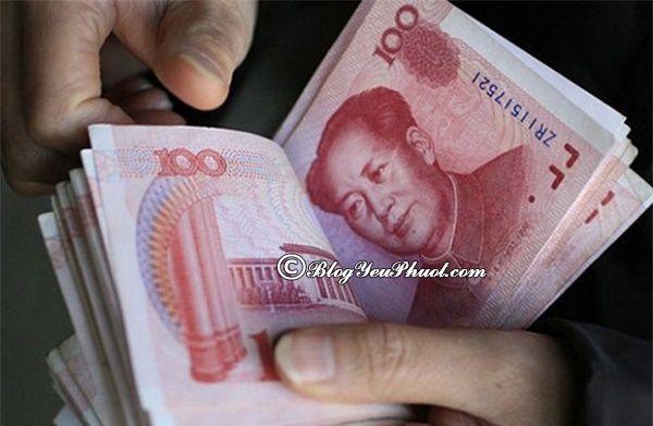 Ở Thượng Hải, người dân chủ yếu sử dụng Nhân dân tệ. Lưu ý khi du lịch Thượng Hải