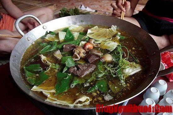 Thắng cố là món ăn đặc sản Hà Giang. Các món ăn ngon, đặc sản Hà Giang