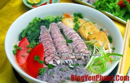 Món ngon, đặc sản Hạ Long nên thưởng thức. Địa chỉ ăn bánh đa hải sản ngon, đông khách ở Hạ Long
