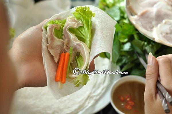 Ăn bánh tráng cuốn thịt heo ở đâu ngon tại Đà Nẵng?
