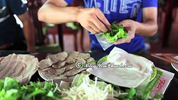 Các quán bánh tráng cuốn thịt heo ngon tại Đà Nẵng