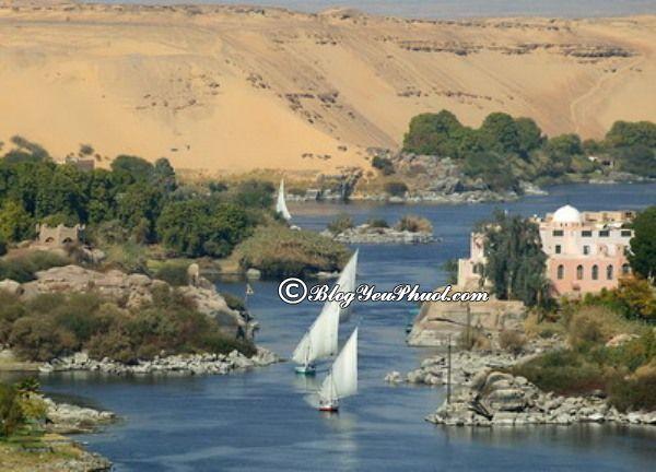 Địa danh nổi tiếng ở Ai Cập không thể thiếu sông Nile huyền bí. Tour du lịch Ai Cập tự túc, giá rẻ: Hướng dẫn cách đi du lịch Ai Cập an toàn, thuận lợi