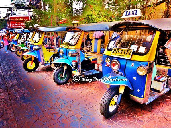 Kinh nghiệm du lịch Chiang mai tự túc. Du lịch Chiang Mai bằng phương tiện gì?