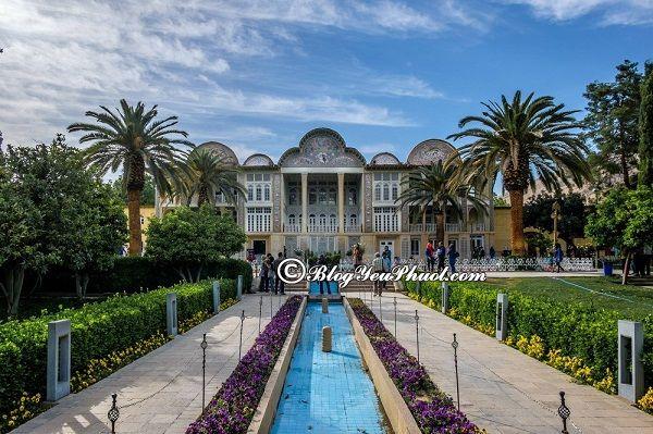 Hướng dẫn xin visa du lịch Iran, Du lịch Iran khám phá sân vườn Eram Garden