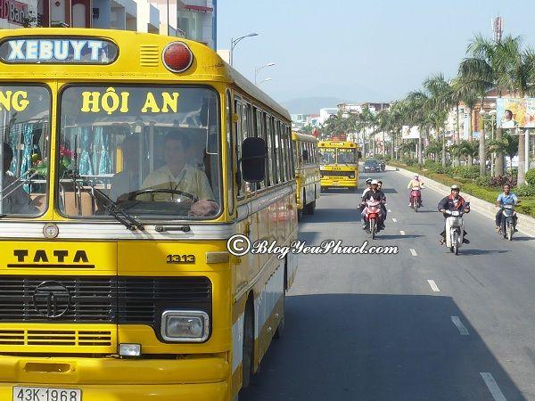 Kinh nghiệm du lịch Cẩm Thanh- Hội An- phương tiện di chuyển