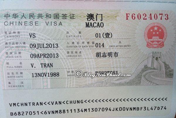 Kinh nghiệm xin visa du lịch Macao: Xin visa du lịch Macao như thế nào, có khó không?