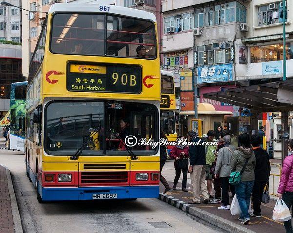 Đi lại ở Hồng Kông bằng xe buýt