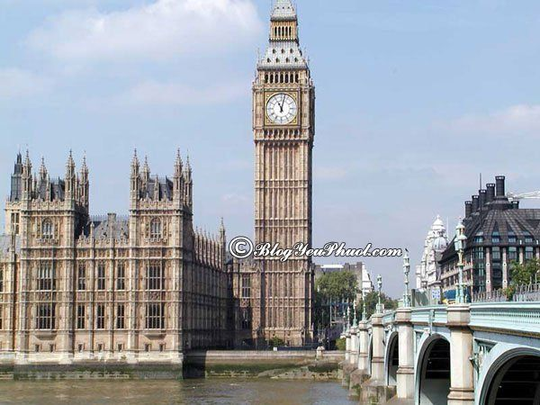 Du lịch London chiêm ngưỡng tháp đồng hồ Big Ben