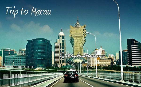 Đi du lịch Macao vào tháng 5 - tháng 9