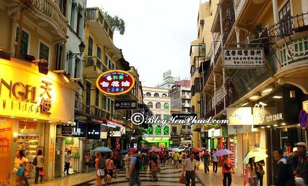 Kinh nghiệm mua sắm khi đi du lịch Macao