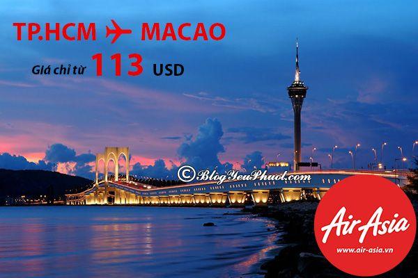 Di chuyển tới Macao bằng máy bay