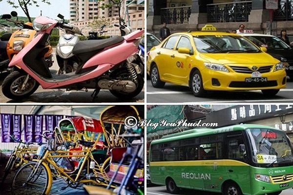 Du lịch Macao bằng phương tiện gì?