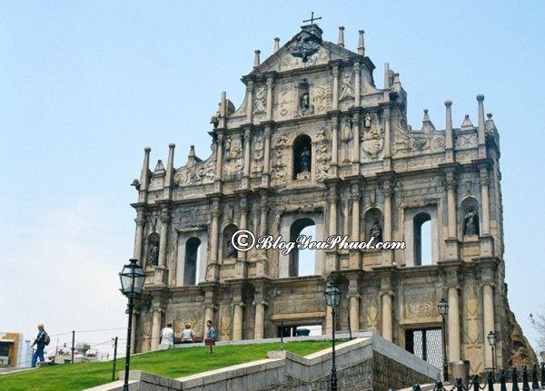 Du lịch Macao nên đi tham quan nhà thờ Thánh Paul