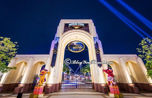 Đi du lịch Osaka giải trí cùng Công viên chủ đề Universal Studios Japan, địa điểm vui chơi giải trí nổi tiếng nên đến khi đi du lịch Osaka