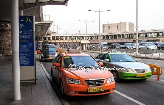 Phương tiện đi lại khi du lịch Seoul - Di chuyển bằng taxi đi du lịch, tham quan Seoul