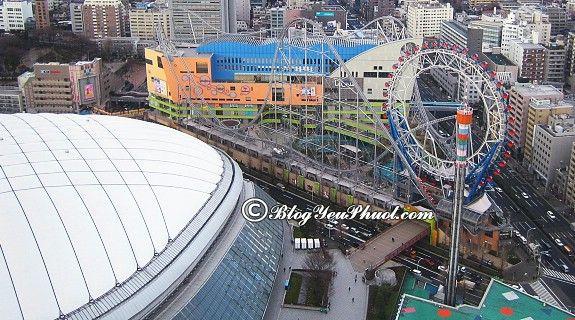 Du lịch Tokyo đừng quên ghé thăm Tokyo Dome City, tư vấn lịch trình tham quan, vui chơi khi đi du lịch Tokyo