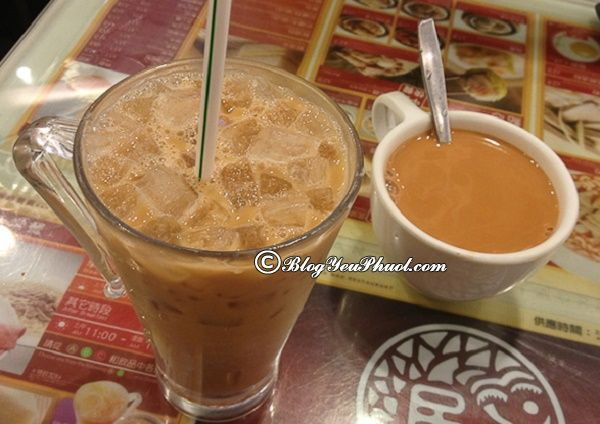 thưởng thức trà sữa Hồng Kông đậm đà hương vị