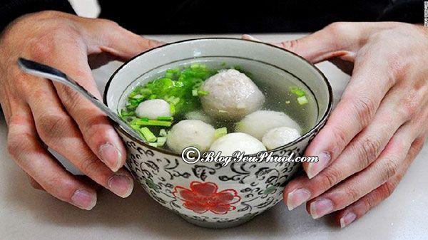 Món ngon Đài Loan - canh cá viên Cửu Phần