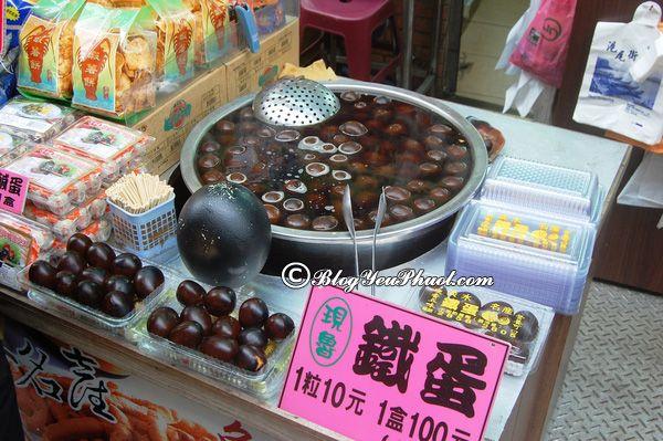 Món ngon đường phố trứng sắt Đài Loan - Ăn gì khi đi Đài Loan?