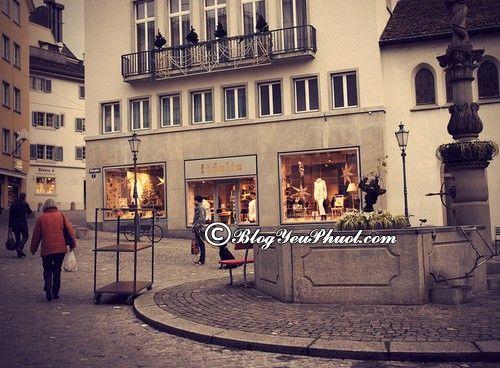 Đến đâu khi du lịch Zurich?- Thăm quan Khu phố cổ ở Zurich, kinh nghiệm du lịch Zurich tự túc, chi tiết