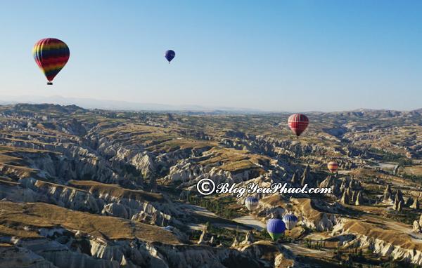 Những điểm đến hấp dẫn ở Cappadocia: Hướng dẫn đi du lịch Cappadocia chi tiết