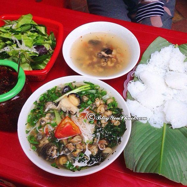 Địa chỉ ăn bún ốc Hà Nội ngon, nổi tiếng: Ăn bún ốc ở đâu Hà Nội ngon, giá rẻ, nổi tiếng?