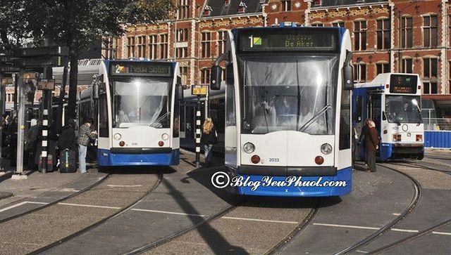 Kinh nghiệm đi lại ở Amsterdam - Đi lại bằng tàu điện, hướng dẫn di chuyển khi du lịch Amsterdam