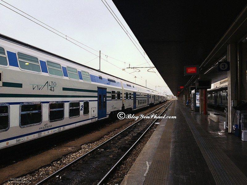 Kinh nghiệm đi tàu ở Ý