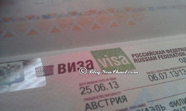 Cách xin visa đi du lịch Moscow nhanh, thuận lợi: Hướng dẫn xin visa du lịch Moscow chi tiết