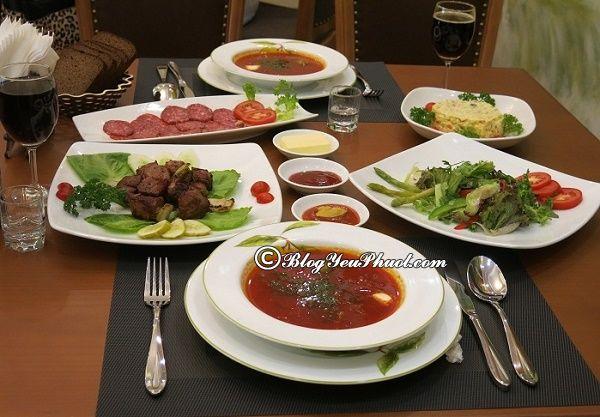Nên ăn gì khi đi du lịch Moscow? Món ăn ngon đặc sản nổi tiếng ở Moscow