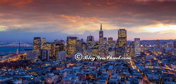Kinh nghiệm du lịch San Francisco tự túc an toàn: Hướng dẫn lịch trình tham quan, vui chơi khi du lịch San Francisco