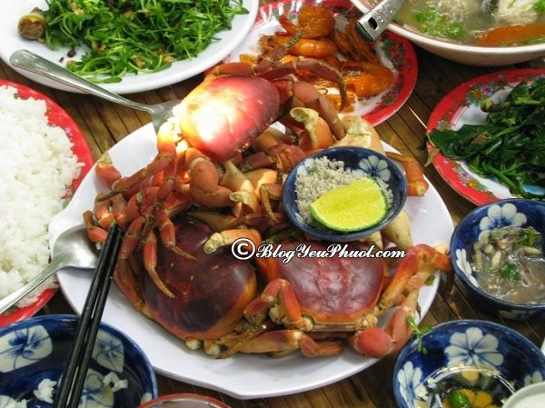 Ăn gì khi du lịch Cù Lao Xanh?-Ẩm thực ở Cù Lao Xanh chủ yếu là Hải Sản, món ăn ngon đặc sản nổi tiếng ở Cù Lao Xanh