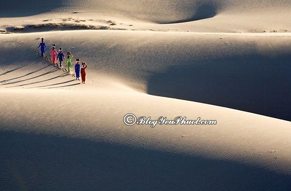 Kinh nghiệm du lịch Ninh Thuận - Thăm quan Đồi cát Nam Cương, tour du lịch Ninh Thuận tự túc, giá rẻ