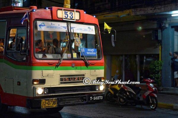 Cách đi từ sân bay Don Muang vào trung tâm Bangkok: Kinh nghiệm đi từ Don Muang về trung tâm Bangkok bằng xe bus