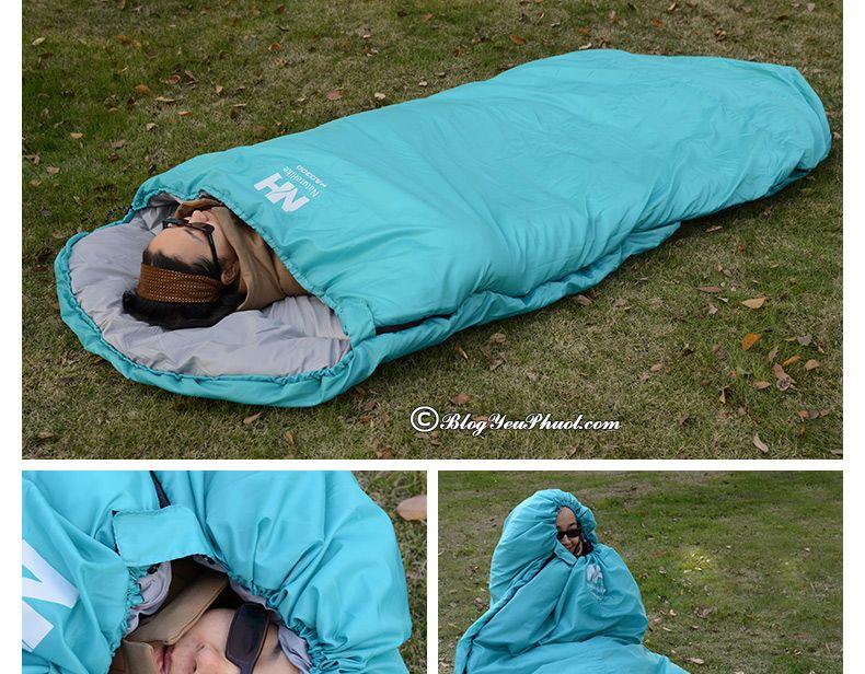 Cách lựa chọn túi ngủ đi phượt, cắm trại