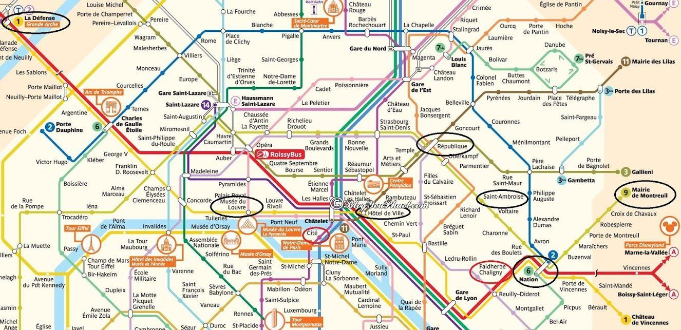 Kinh nghiệm đi lại ở Paris: bản đồ hệ thống Metro và RER ở Paris, di chuyển ở Paris như thế nào nhanh, giá rẻ?
