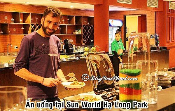 Ăn gì khi đến Sun World Hạ Long Park? Kinh nghiệm ăn uống khi du lịch Sun World Hạ Long Park