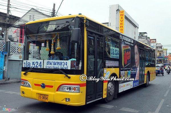 Phương tiện di chuyển đến chùa Phật Vàng: Hướng dẫn đi du lịch chùa Vàng Wat Traimit Bangkok bằng xe bus