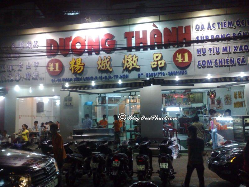 Ăn đêm Sài Gòn quán nào ngon? Địa chỉ quán ăn đêm ngon, đông khách ở Sài Gòn