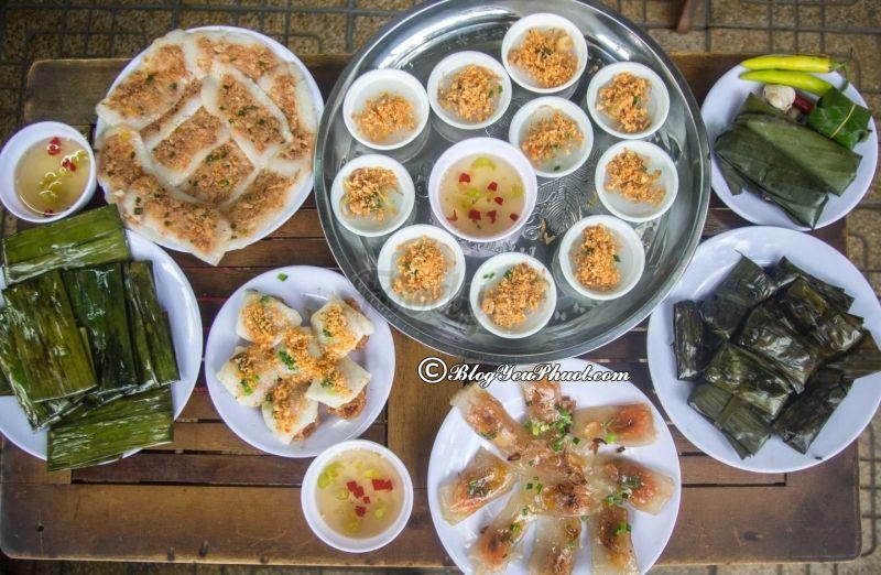Bánh nậm, bánh lọc, bánh bèo ở Đà Nẵng