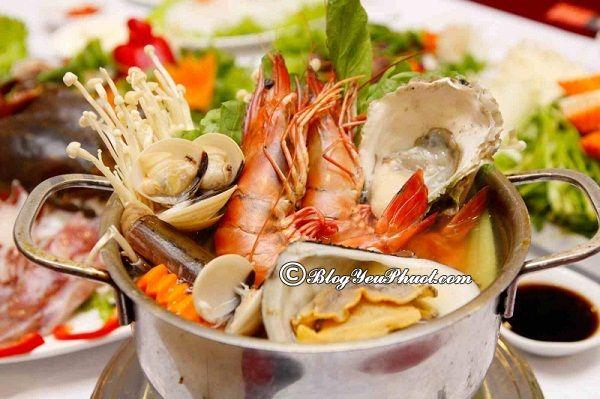 Quán hải sản tươi ngon, giá rẻ ở Cửa Lò