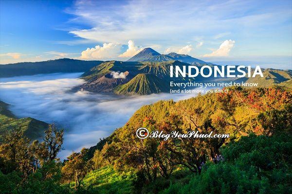 Các địa điểm tham quan nổi tiếng ở Indonesia không thể bỏ lỡ***