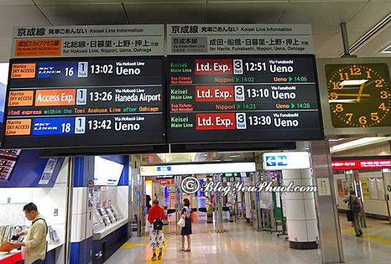 Kinh nghiệm và những lưu ý khi sử dụng tàu điện ở Nhật Bản