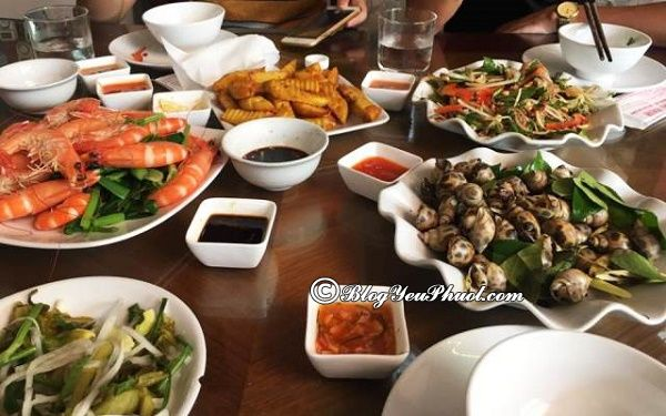 địa chỉ ăn hải sản ngon ở Hạ Long