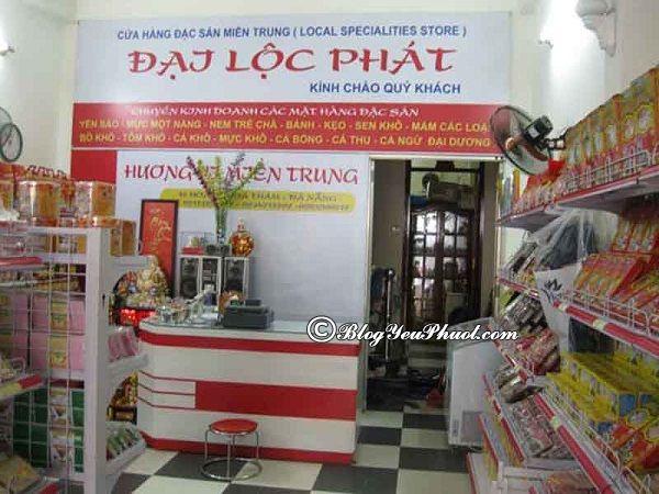 Địa chỉ bán đặc sản miền trung ngon, nổi tiếng ở Đà Nẵng: Mua đặc sản miền Trung ở đâu Đà Nẵng ngon, bổ, rẻ?