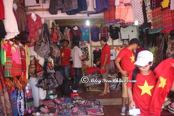 cửa hàng bán thổ cẩm chất lượng nhất tại Sapa