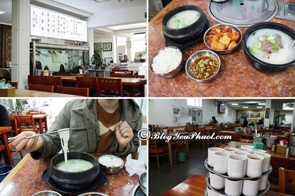 Địa điểm ăn uống ngon, rẻ tại Seoul